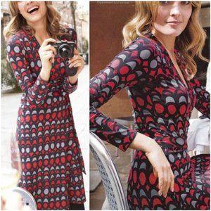 BODEN Geometric Print Wrap Dress 2R
